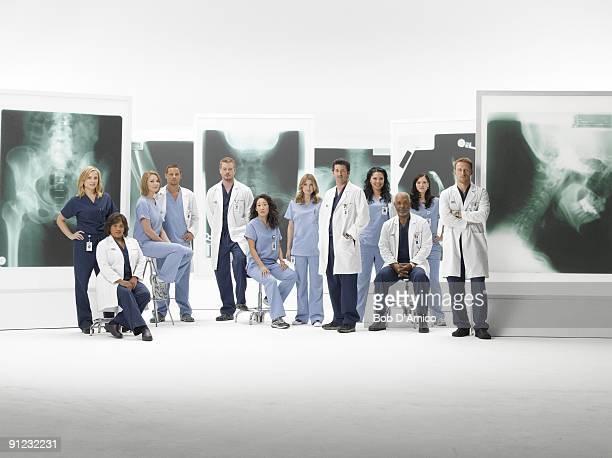 S ANATOMY Walt Disney Television via Getty Images's Grey's Anatomy stars Jessica Capshaw as Arizona Robbins Chandra Wilson as Miranda Bailey...