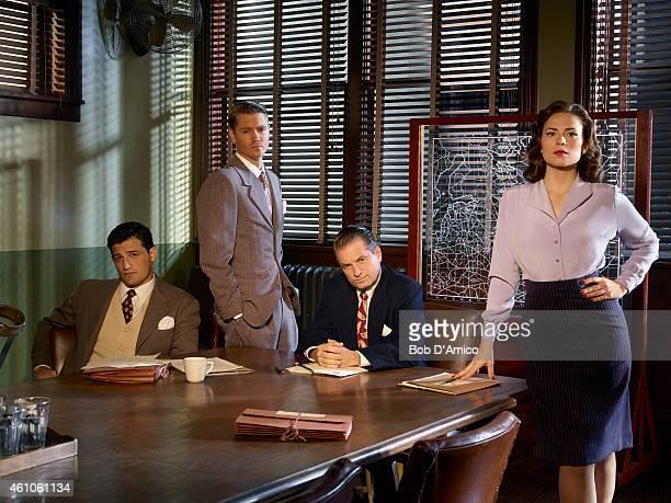S AGENT CARTER Walt Disney Television via Getty Images's Marvel's Agent Carter stars Enver Gjokaj as Agent Daniel Sousa Chad Michael Murray as Agent...