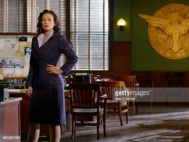 S AGENT CARTER Walt Disney Television via Getty Images's Marvel's Agent Carter stars Hayley Atwell as Agent Peggy Carter