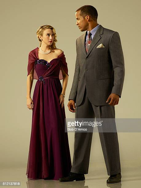 S AGENT CARTER Walt Disney Television via Getty Images's Marvel's Agent Carter stars Wynn Everett as Whitney Frost and Reggie Austin as Dr Jason...