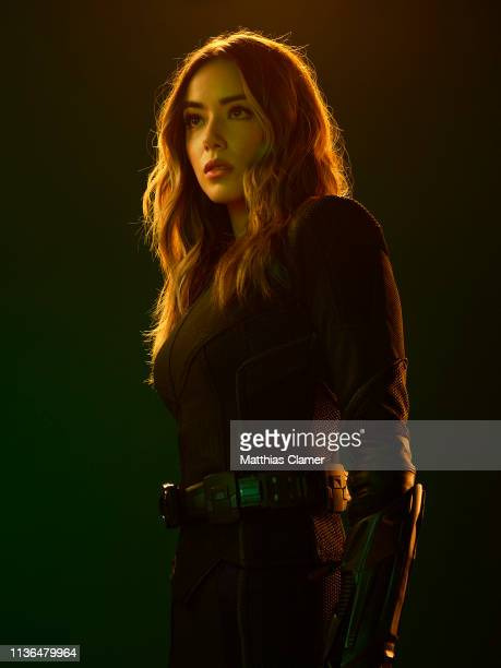 "Walt Disney Television via Getty Images's ""Marvel's Agents of S.H.I.E.L.D."" stars Chloe Bennet as Daisy Johnson."