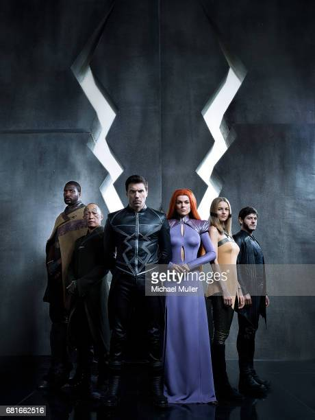S INHUMANS Walt Disney Television via Getty Images's Marvel's Inhumans stars Eme Ikwuakor as Gorgon Ken Leung as Karnak Anson Mount as Black Bolt...