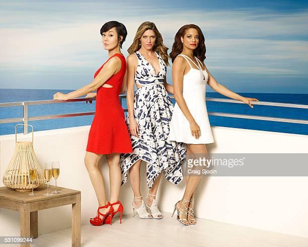 MISTRESSES Walt Disney Television via Getty Images's Mistresses stars Yunjin Kim as Karen Kim Jes Macallan as Josslyn Carver and Rochelle Aytes as...