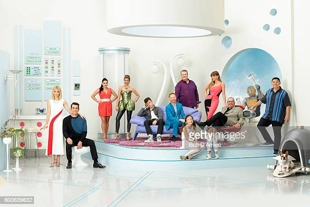 FAMILY Walt Disney Television via Getty Images's Modern Family stars Julie Bowen as Claire Dunphy Ty Burrell as Phil Dunphy Ariel Winter as Alex...