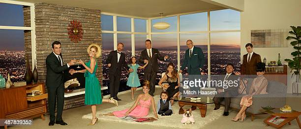 """Walt Disney Television via Getty Images's """"Modern Family"""" stars Ty Burrell as Phil Dunphy, Julie Bowen as Claire Dunphy, Jesse Tyler Ferguson as..."""