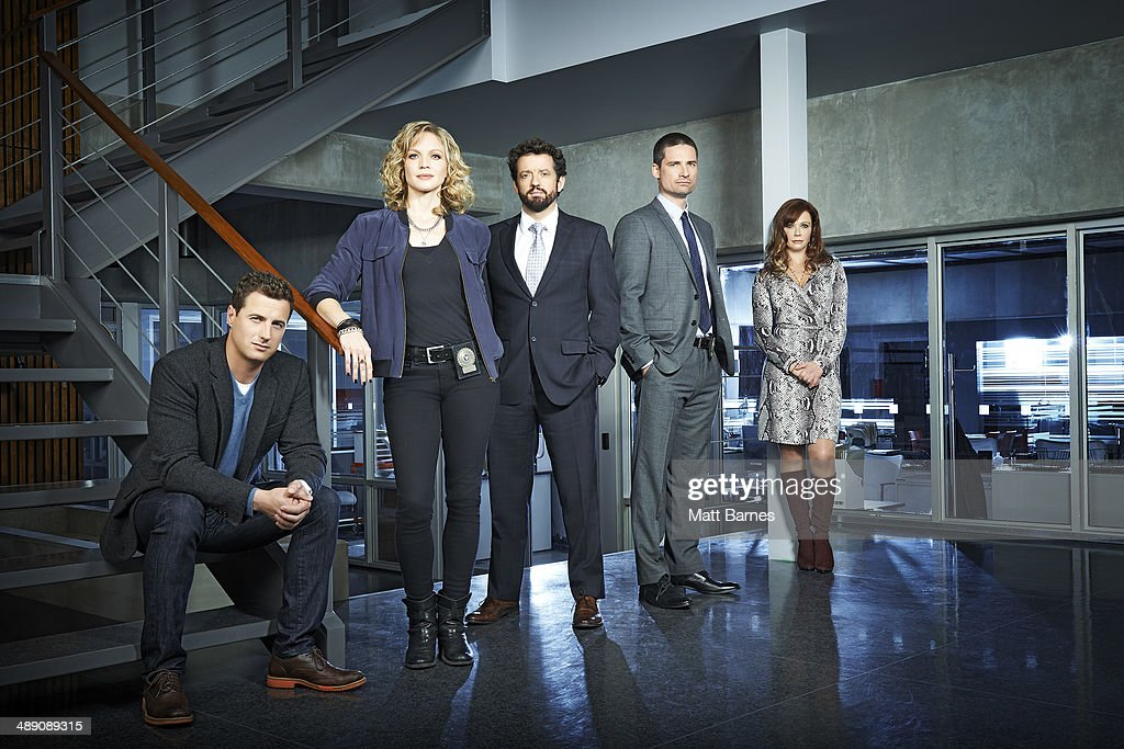 MOTIVE - ABC's 'Motive' stars Brendan Penny as Detective Brian Lucas, Kristin Lehman as Detective Angie Flynn, Louis Ferreira as Detective Oscar Vega, Warren Christie as Sergeant Mark Cross and Lauren Holly as Dr. Betty Rogers. (Photo by Matt Barnes/ABC via Getty Images))