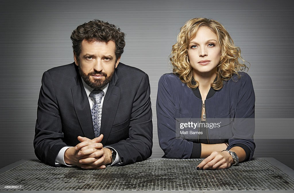 MOTIVE - ABC's 'Motive' stars Louis Ferreira as Detective Oscar Vega and Kristin Lehman as Detective Angie Flynn. (Photo by Matt Barnes/ABC via Getty Images))