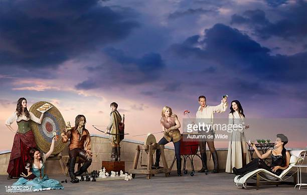TIME Walt Disney Television via Getty Images's Once Upon a Time stars Meghan Ory as Red Riding Hood/Ruby Emilie de Ravin as Belle Robert Carlyle as...
