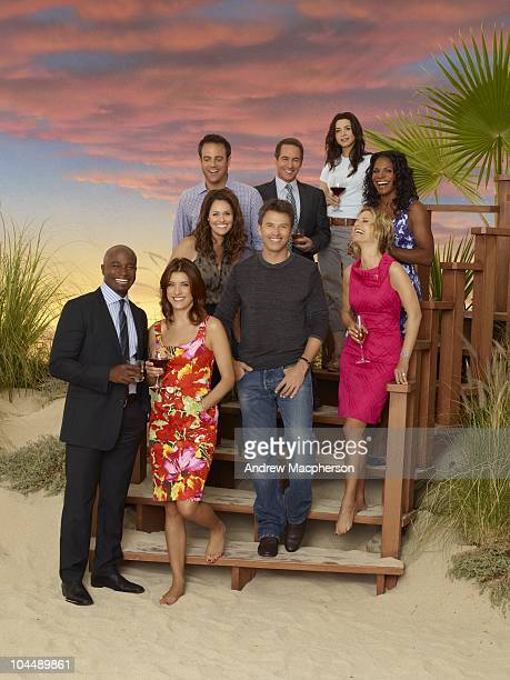 PRACTICE Walt Disney Television via Getty Images's Private Practice stars Kate Walsh as Dr Addison Forbes Montgomery Tim Daly as Dr Pete Wilder Audra...