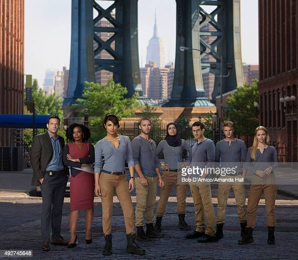 QUANTICO Walt Disney Television via Getty Images's Quantico stars Josh Hopkins as Liam O'Connor Aunjanue Ellis as Miranda Shaw Priyanka Chopra as...
