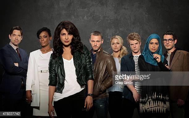 QUANTICO Walt Disney Television via Getty Images's Quantico stars Priyanka Chopra as Alex Dougray Scott as Liam Jake McLaughlin as Ryan Aunjanue...