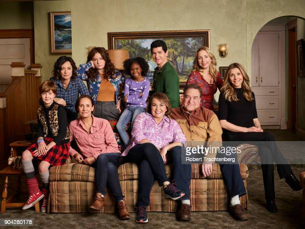 ROSEANNE ABC's 'Roseanne' stars Ames McNamara as Mark Sara Gilbert as Darlene Conner Laurie Metcalf as Jackie Harris Emma Kenney as Harris Conner...