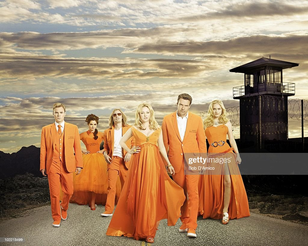 SCOUNDRELS - ABC's 'Scoundrels' stars Virginia Madsen as Cheryl West, David James Elliott as Wolfgang 'Wolf' West, Patrick John Flueger as Logan West/Calvin 'Cal' West, Leven Rambin as Heather West, Vanessa Marano as Hope West and Carlos Bernard as Sergeant Mack. (Photo by Bob D'Amico/ABC via Getty Images) PATRICK