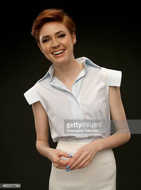 ABC's 'Selfie' actress Karen Gillan poses for a portrait during ABC's 2014 TCA summer press tour at The Beverly Hilton Hotel on July 15 2014 in...