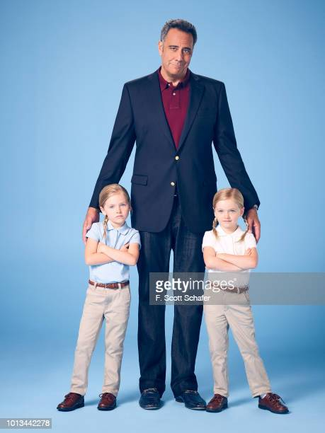 PARENTS ABC's 'Single Parents' stars Ella Allan as Amy Brad Garrett as Douglas and Mia Allan as Emma