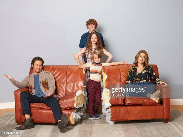TOGETHER ABC's 'Splitting Up Together' stars Oliver Hudson as Martin Van Crosby as Mason Olivia Keville as Mae Sander Thomas as Milo and Jenna...