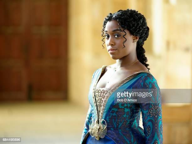 CROSSED Walt Disney Television via Getty Images's Still StarCrossed stars Lashana Lynch as Rosaline Capulet
