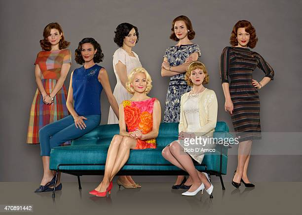 CLUB Walt Disney Television via Getty Images's The Astronaut Wives Club stars JoAnna Garcia Swisher as Betty Grissom Odette Annable as Trudy Cooper...
