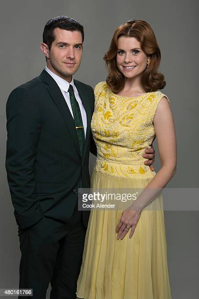 CLUB Walt Disney Television via Getty Images's The Astronaut Wives Club stars Joel Johnstone as Gus Grissom and Joanna Garcia Swisher as Betty Grissom