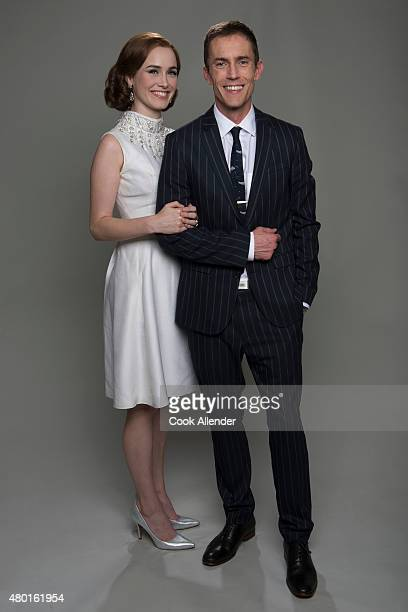CLUB Walt Disney Television via Getty Images's The Astronaut Wives Club stars Dominique McElligott as Louise Shephard and Desmond Harrington as Alan...
