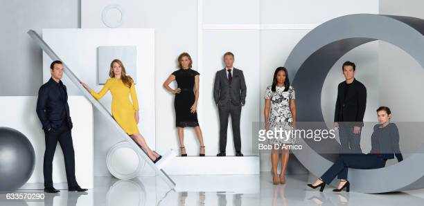 THE CATCH Walt Disney Television via Getty Images's The Catch stars Peter Krause as Benjamin Mireille Enos as Alice Sonya Walger as Margot John Simm...