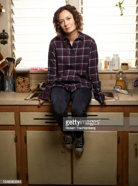 """Walt Disney Television via Getty Images's """"The Conners"""" stars Sara Gilbert as Darlene Conner."""
