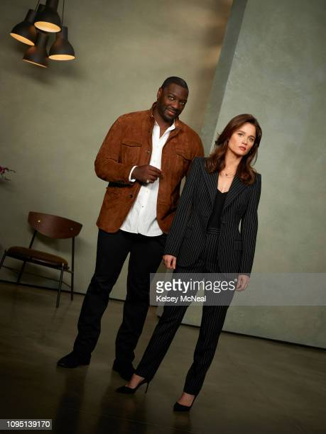 THE FIX Walt Disney Television via Getty Images's The Fix stars Adewale AkinnuoyeAgbaje as Severen Sevvy Johnson and Robin Tunney as Maya Travis