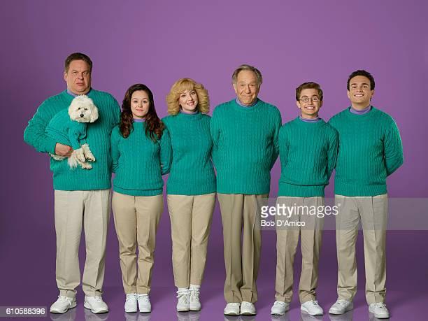 THE GOLDBERGS Walt Disney Television via Getty Images's The Goldbergs stars Jeff Garlin as Murray Goldberg Hayley Orrantia as Erica Goldberg Wendi...