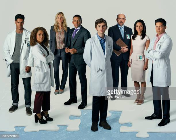DOCTOR Walt Disney Television via Getty Images's The Good Doctor stars Chukuma Modu as Dr Jared Kalu Antonia Thomas as Dr Claire Browne Beau Garrett...