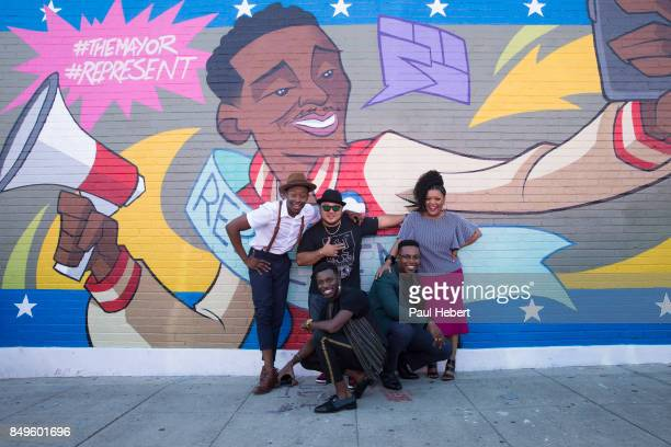 THE MAYOR ABC's 'The Mayor' inspired mural by the artist kaNO in the heart of Los Angeles California BERNARD