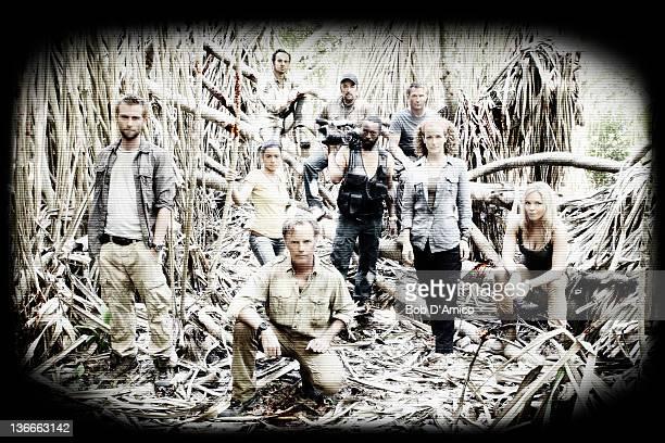 "Walt Disney Television via Getty Images's ""The River"" stars Joe Anderson as Lincoln Cole, Paulina Gaitan as Jahel Valenzuela, Paul Blackthorne as..."