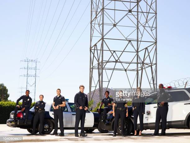 THE ROOKIE Walt Disney Television via Getty Images's The Rookie stars Titus Makin as Jackson West Melissa O'Neil as Lucy Chen Eric Winter as Tim...
