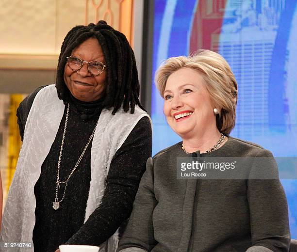 THE VIEW Walt Disney Television via Getty Images's The View welcomes presidential candidate Secretary Hillary Clinton in studio on TUESDAY APRIL 5...