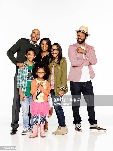 BUCK Walt Disney Television via Getty Images's Uncle Buck stars James Lesure as Will Sayeed Shahidi as Miles Aalyrah Caldwell as Maizy Nia Long as...