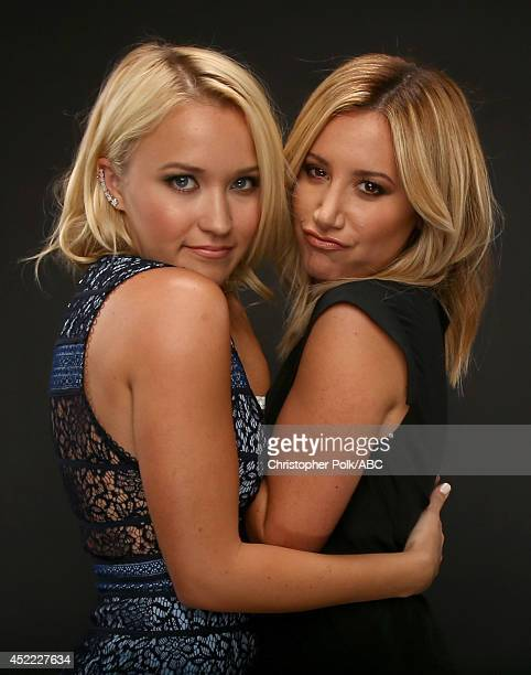 Walt Disney Television via Getty Images's 'Young Hungry' actresses Emily Osment and Ashley Tisdale pose for a portrait during Walt Disney Television...