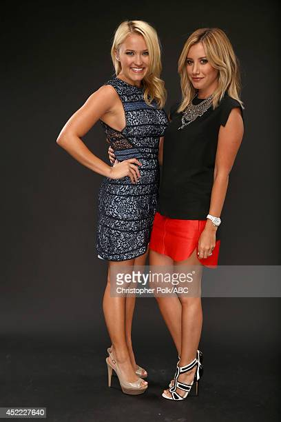 ABC's 'Young Hungry' actresses Emily Osment and Ashley Tisdale pose for a portrait during ABC's 2014 TCA summer press tour at The Beverly Hilton...