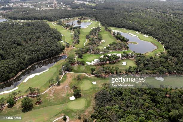 Walt Disney World golf courses remain closed to the public due to the Coronavirus threat on March 23 2020 in Orlando Florida The United States has...