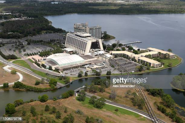 Walt Disney World hotels remain closed to the public due to the Coronavirus threat on March 23 2020 in Orlando Florida The United States has...