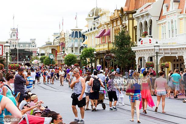 walt disney world main street usa - disney stock pictures, royalty-free photos & images