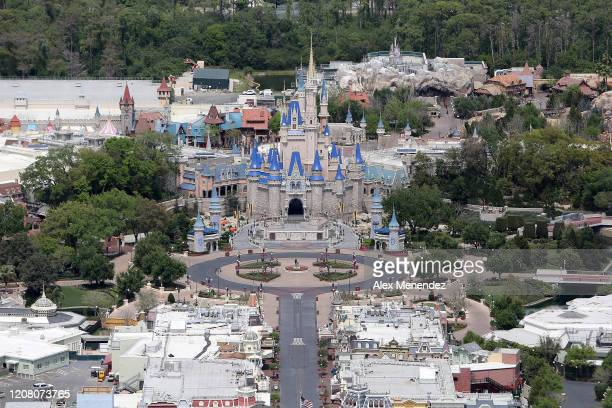 Walt Disney World remains closed to the public due to the Coronavirus threat on March 23, 2020 in Orlando, Florida. The United States has surpassed...