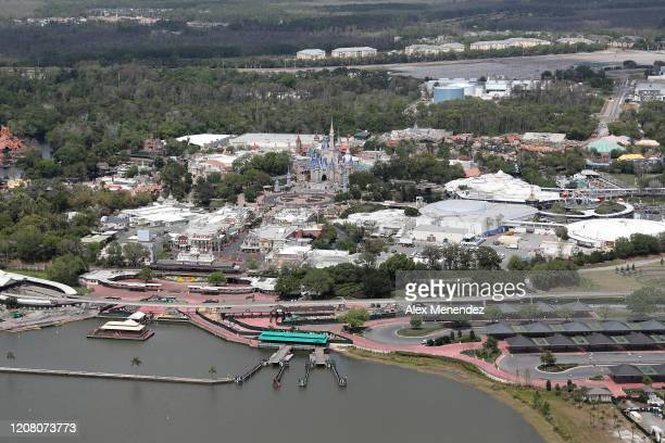 Walt Disney World remains closed to the public due to the Coronavirus threat on March 23 2020 in Orlando Florida The United States has surpassed...