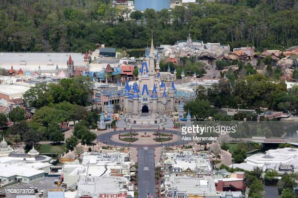 Walt Disney World remains empty during business hours due to the Coronavirus threat on March 23 2020 in Orlando Florida The United States has...