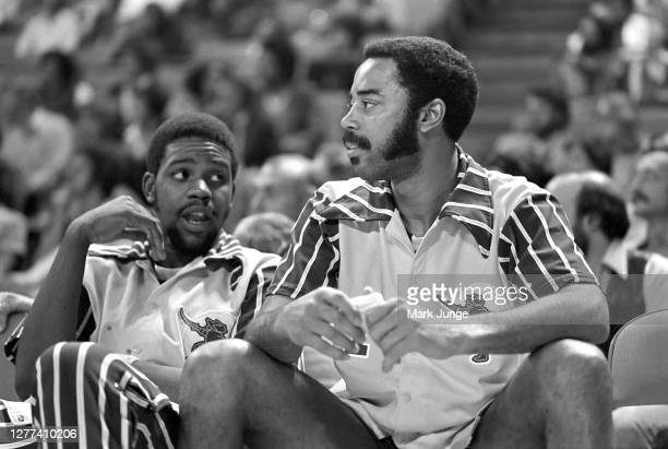 Walt Frazier of the Cleveland Cavaliers sits on the bench during a game against the Denver Nuggets at McNichols Arena on November 3 1978 in Denver...
