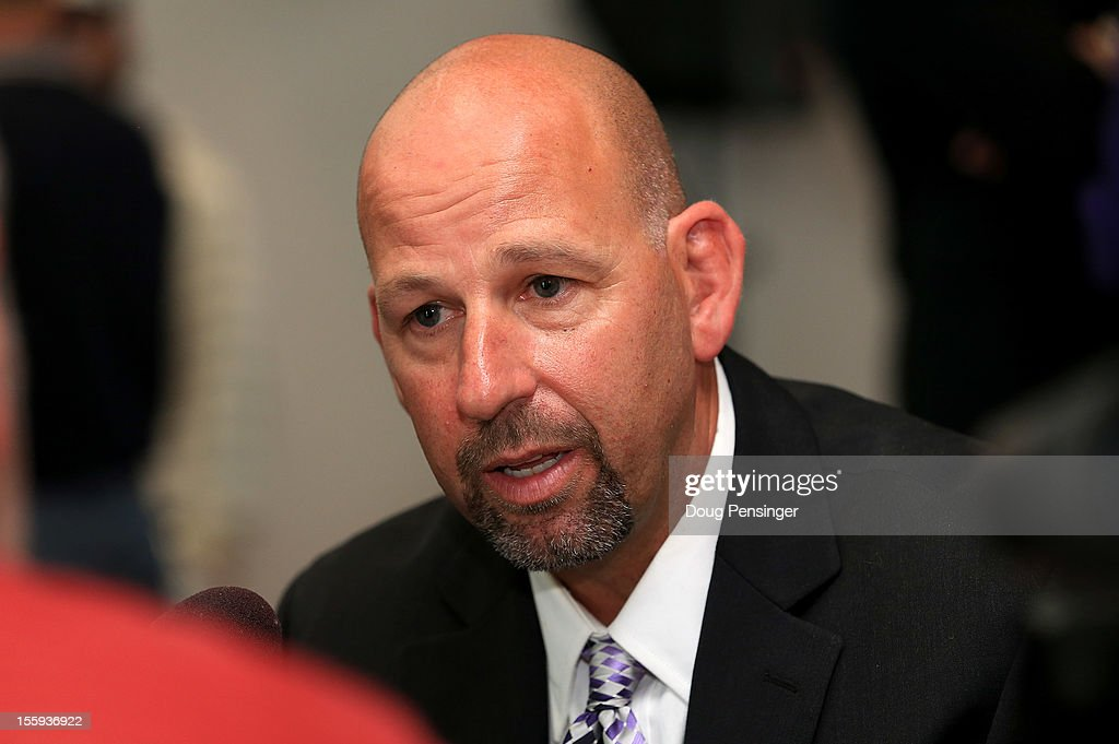 Walt Weiss talks to the media as he was named the manager of the Colorado Rockies during a press conference at Coors Field on November 9, 2012 in Denver, Colorado.
