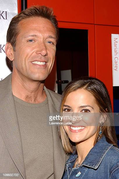 Walt Wiley and Rebecca Budig during All My Children Stars Appear at Celebrity Heartthrobs Crystallize Denim Program Launch To Benefit The American...