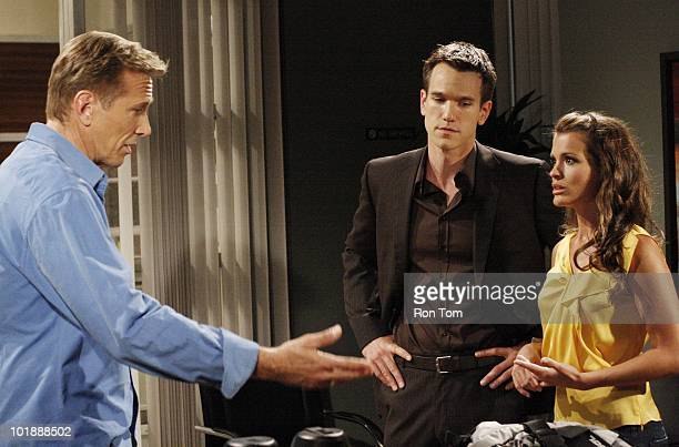 Walt Willey , Adam Mayfield and Melissa Claire Egan in a scene that airs the week of June 14, 2010 on Walt Disney Television via Getty Images...