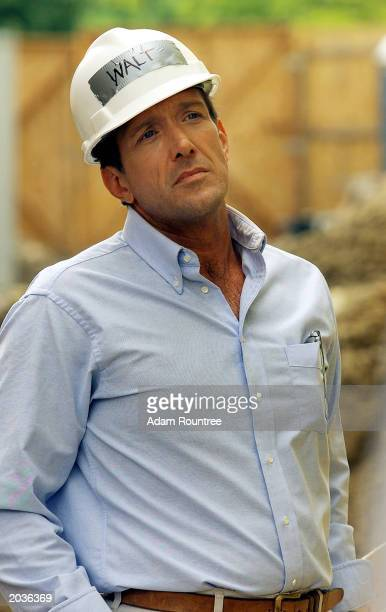 Walt Willey and cast members from the TV drama All My Children volunteer to build a Habitat for Humanity house May 28 2003 in Bronx neighborhood of...