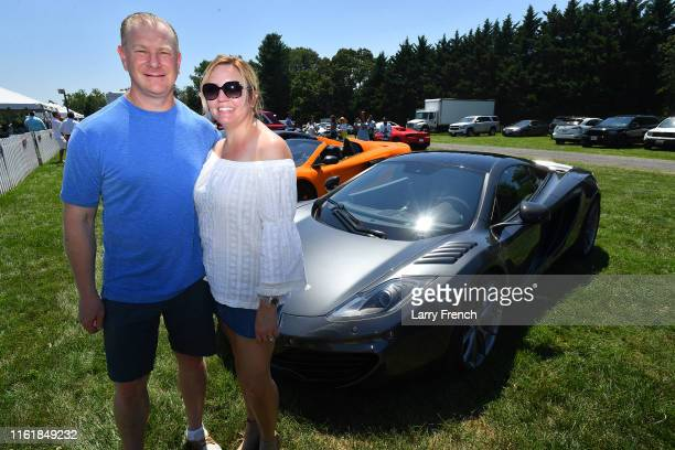 Walt Ziffer and Deborah Ziffer are seen at Grandiosity Events CigarsGuitars Charity PoloJazz charity event Powered by Logical Technology and Research...