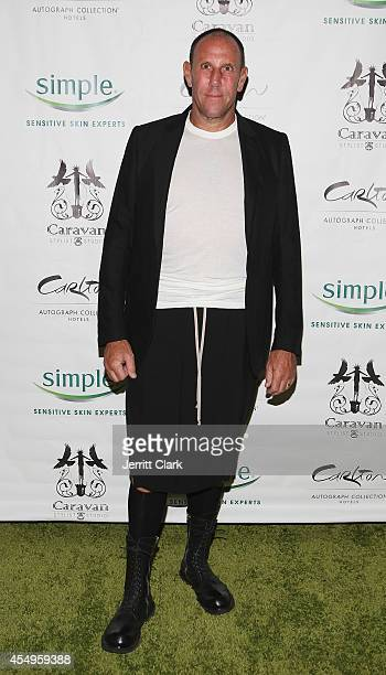 Walter Baker attends the Simple Skincare Caravan Stylist Studio Fashion Week Event on September 7 2014 in New York City