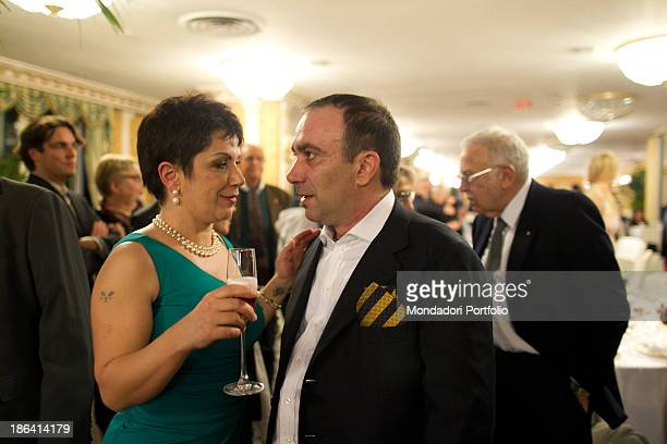 Walter Banfi and Italian actress Rosanna Banfi attending the reception of their parents at the hotel Parco dei Principi Italian actor and comedian...